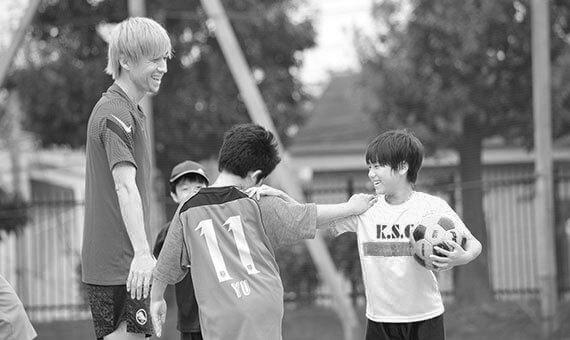 プライベートサッカートレーニング中の狩野健太さん